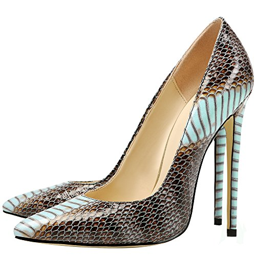 MONICOCO-Womens-Pointed-Toe-Snake-Print-Party-Pump-Shoes-Blue-11-M-US-0-5