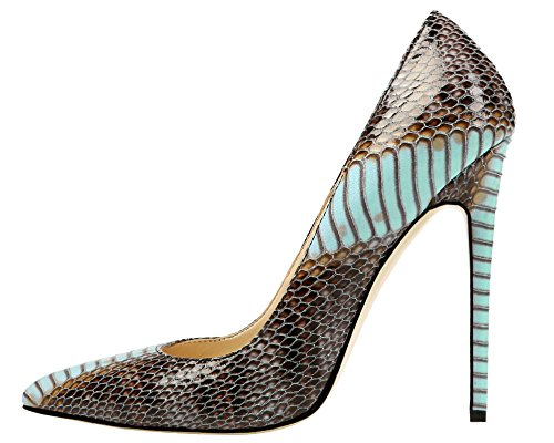 MONICOCO-Womens-Pointed-Toe-Snake-Print-Party-Pump-Shoes-Blue-11-M-US-0
