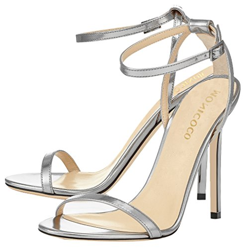 MONICOCO-Womens-Shoes-Ankle-Strap-High-Heels-Dress-Sandals-Silver-105-M-US-0-1
