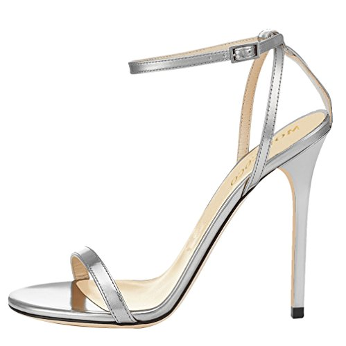 MONICOCO-Womens-Shoes-Ankle-Strap-High-Heels-Dress-Sandals-Silver-105-M-US-0