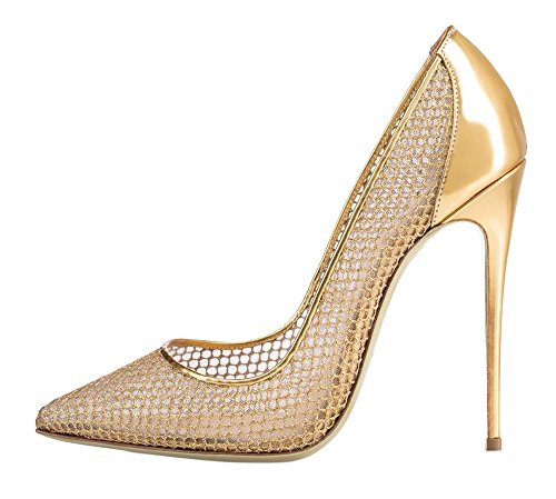 MONICOCO-Womens-Stiletto-Heel-Plus-Size-Shoes-Pointed-Toe-Special-Fabric-Pump-for-Wedding-Party-Dress-Mesh-Gold-13-BM-US-0