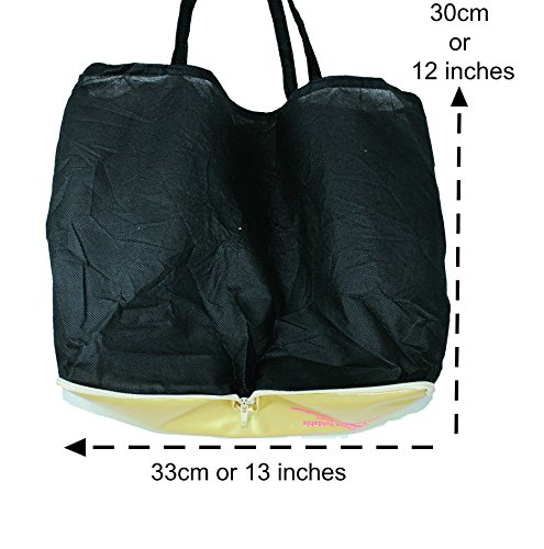 Plus-size-Womens-Gold-shoes-size-11-12-Foldable-ballet-Flats-EXPANDABLE-TOTE-Bag-to-Carrying-High-Heels-Fold-up-Folding-Shoes2ExLarge11-to-12-0-1
