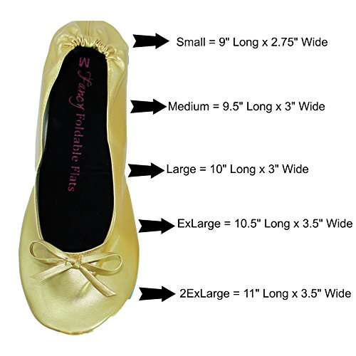 Plus-size-Womens-Gold-shoes-size-11-12-Foldable-ballet-Flats-EXPANDABLE-TOTE-Bag-to-Carrying-High-Heels-Fold-up-Folding-Shoes2ExLarge11-to-12-0-5
