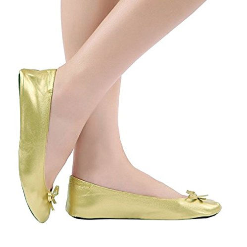Plus-size-Womens-Gold-shoes-size-11-12-Foldable-ballet-Flats-EXPANDABLE-TOTE-Bag-to-Carrying-High-Heels-Fold-up-Folding-Shoes2ExLarge11-to-12-0-6
