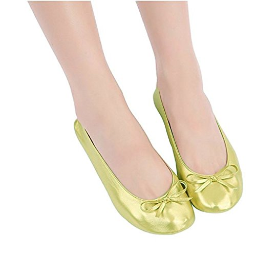 Plus-size-Womens-Gold-shoes-size-11-12-Foldable-ballet-Flats-EXPANDABLE-TOTE-Bag-to-Carrying-High-Heels-Fold-up-Folding-Shoes2ExLarge11-to-12-0-7