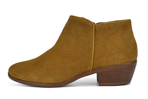 TOETOS-DALLAS-Womens-Stylish-Cowboy-Chunky-Block-Heel-Zipper-Closure-Suede-Leather-Ankle-Booties-Tan-Size-12-0-0