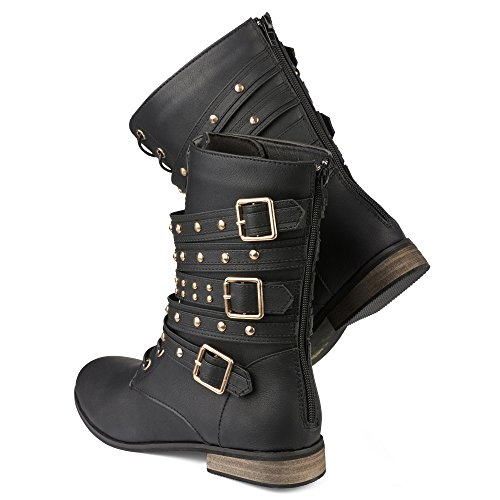 Twisted-Womens-BREE-Tall-Lace-Up-Military-Boot-BREE01-BLACK-Size-12-0-2