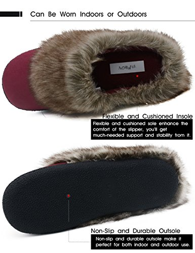 Vonmay-Womens-Faux-Suede-Fur-Slip-On-Memory-Foam-Clog-House-Slippers-Indoor-Outdoor-9-10-BM-US-Burgundy-0-2