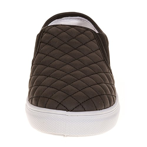 Womens-Dover-Fashion-Faux-Leather-Quilted-Slip-On-Shoe-Wide-Width-size-12-Black-0-1