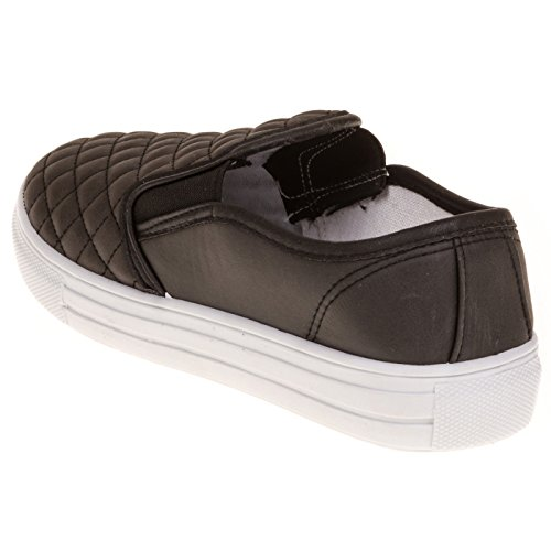 Womens-Dover-Fashion-Faux-Leather-Quilted-Slip-On-Shoe-Wide-Width-size-12-Black-0-2