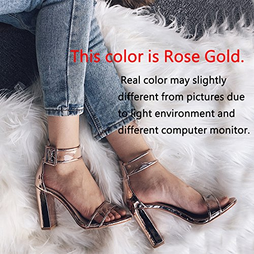 Womens-Sexy-Ankle-Strap-Sandal-Transparent-Open-Toe-Chunky-High-Heel-Shoes-US-12-Gold-0-3