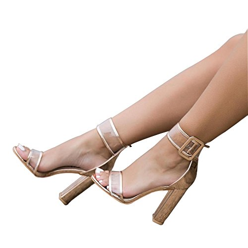 Womens-Sexy-Ankle-Strap-Sandal-Transparent-Open-Toe-Chunky-High-Heel-Shoes-US-12-Gold-0