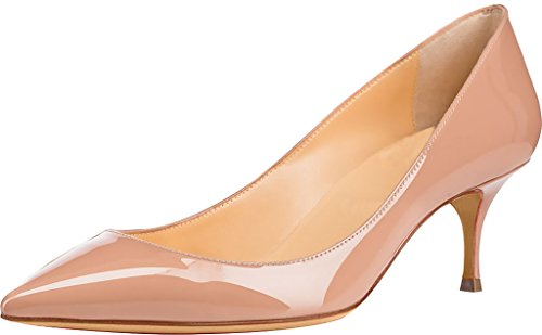 Calaier-Womens-Cabelow-Pointed-Toe-55CM-Stiletto-Slip-on-Pumps-Shoes-Beige-7-BM-US-0
