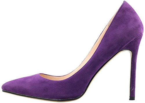 Calaier-Womens-Caeverybody-Pointed-Toe-10CM-Stiletto-Slip-on-Pumps-Shoes-Purple-115-BM-US-0-0