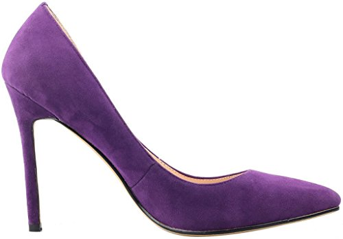 Calaier-Womens-Caeverybody-Pointed-Toe-10CM-Stiletto-Slip-on-Pumps-Shoes-Purple-115-BM-US-0-2