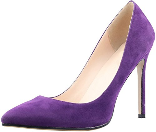 Calaier-Womens-Caeverybody-Pointed-Toe-10CM-Stiletto-Slip-on-Pumps-Shoes-Purple-115-BM-US-0