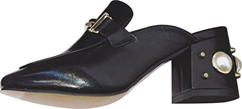 Calaier-Womens-Capercent-Closed-Toe-55CM-Block-Heel-Slip-on-Mule-Shoes-Black-55-BM-US-0-0