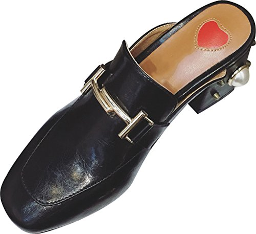 Calaier-Womens-Capercent-Closed-Toe-55CM-Block-Heel-Slip-on-Mule-Shoes-Black-55-BM-US-0