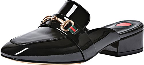 Calaier-Womens-Catalented-Square-Toe-4CM-Block-Heel-Slip-on-Mule-Shoes-Black-7-BM-US-0
