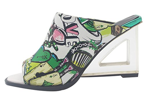 Calaier-Womens-Eleourty-Pointed-Toe-8CM-Wedge-Heel-Slip-on-Sandals-Shoes-Multicoloured-15-BM-US-0-0