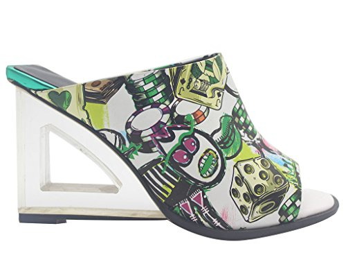 Calaier-Womens-Eleourty-Pointed-Toe-8CM-Wedge-Heel-Slip-on-Sandals-Shoes-Multicoloured-15-BM-US-0-2