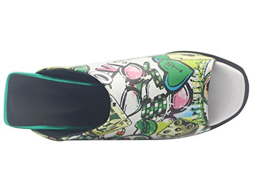 Calaier-Womens-Eleourty-Pointed-Toe-8CM-Wedge-Heel-Slip-on-Sandals-Shoes-Multicoloured-15-BM-US-0-4