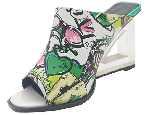 Calaier-Womens-Eleourty-Pointed-Toe-8CM-Wedge-Heel-Slip-on-Sandals-Shoes-Multicoloured-15-BM-US-0