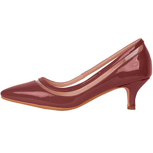 Calaier-Womens-Experience-Closed-Toe-95CM-Stiletto-Slip-on-Pumps-Shoes-Red-4-BM-US-0-0