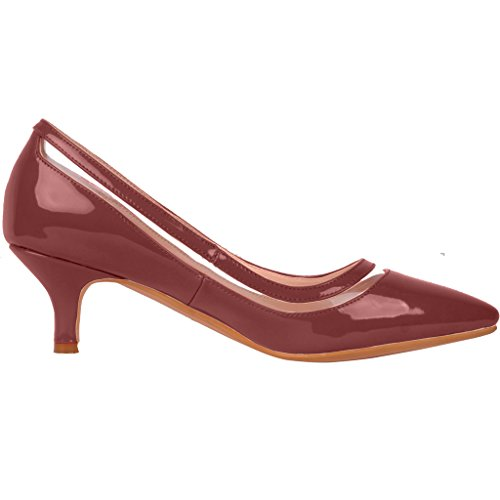 Calaier-Womens-Experience-Closed-Toe-95CM-Stiletto-Slip-on-Pumps-Shoes-Red-4-BM-US-0-2