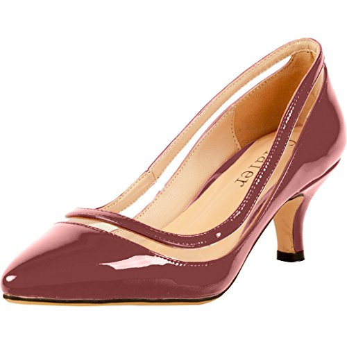 Calaier-Womens-Experience-Closed-Toe-95CM-Stiletto-Slip-on-Pumps-Shoes-Red-4-BM-US-0