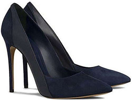 Calaier-Womens-Jtabk-Pointed-Toe-12CM-Stiletto-Slip-on-Pumps-Shoes-Blue-85-BM-US-0-0