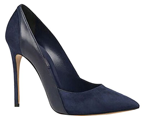 Calaier-Womens-Jtabk-Pointed-Toe-12CM-Stiletto-Slip-on-Pumps-Shoes-Blue-85-BM-US-0