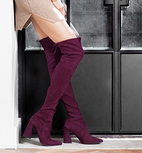 Guoar-Pointed-toe-Horseshoe-Heel-Over-the-Knee-Thigh-High-Red-Wine-Stretch-Boots-us6-0-1