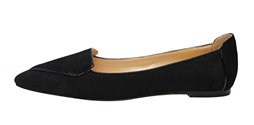 Guoar-Womens-Ballet-Flats-Big-Size-Ladies-Flats-Shoes-Pointed-Toe-Stitching-Pumps-Shoes-Black-US8-0
