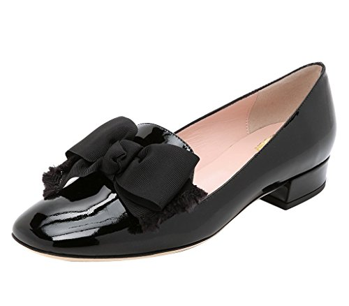 Guoar-Womens-Big-Size-Low-Heel-Pointed-Toe-PU-Patent-Ballet-Flat-Sandals-Pumps-for-Wedding-Party-Dress-Black-US12-0-0