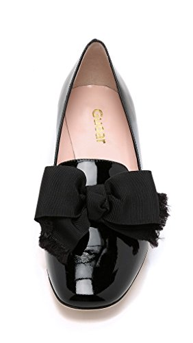 Guoar-Womens-Big-Size-Low-Heel-Pointed-Toe-PU-Patent-Ballet-Flat-Sandals-Pumps-for-Wedding-Party-Dress-Black-US12-0-3