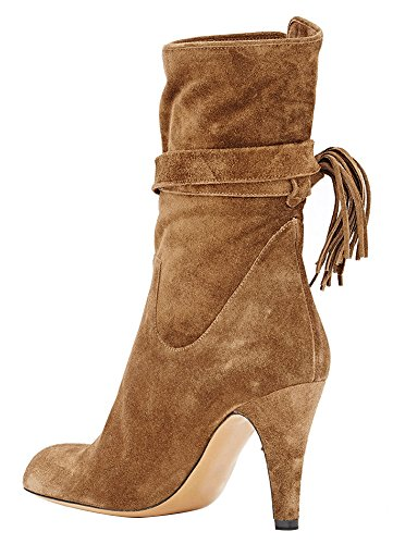 Guoar-Womens-Low-Mid-Heel-Shoes-Bootie-Big-Size-Fringe-Pointed-Toe-Strappy-Ankle-Boots-for-Wedding-Party-Dress-Brown-US12-0-0