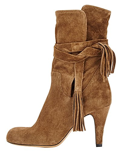 Guoar-Womens-Low-Mid-Heel-Shoes-Bootie-Big-Size-Fringe-Pointed-Toe-Strappy-Ankle-Boots-for-Wedding-Party-Dress-Brown-US12-0