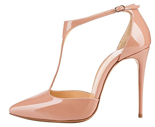 Guoar-Womens-Stiletto-Big-Size-Heel-Sandals-Pointed-Toe-Colourful-Patent-Pumps-for-Wedding-Party-Dress-Nude-US8-0