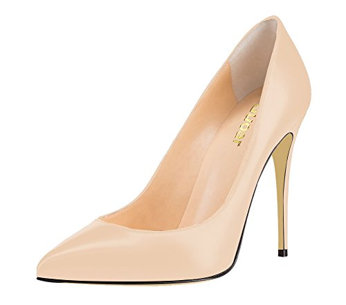 Guoar-Womens-Stiletto-Big-Size-Sandals-Court-Shoes-Pointed-Toe-PU-Pumps-for-Wedding-Party-Dress-Nude-US8-0-0