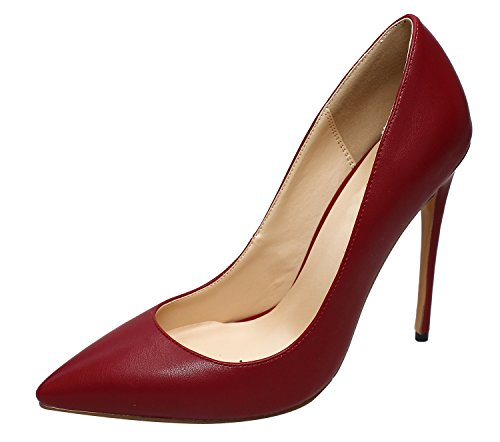 Guoar-Womens-Stiletto-Big-Size-Shoes-Pointed-Toe-Patent-Ladies-Solid-Pumps-for-Work-Place-Dress-Party-Red-wine-US10-0