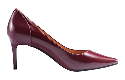Guoar-Womens-Stiletto-Heel-Big-Size-Solid-Shoes-Pointed-Toe-PU-Pump-for-Wedding-Party-Dress-Wine-US9-0-0