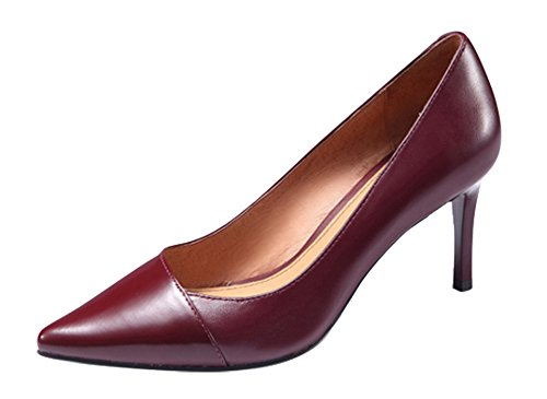 Guoar-Womens-Stiletto-Heel-Big-Size-Solid-Shoes-Pointed-Toe-PU-Pump-for-Wedding-Party-Dress-Wine-US9-0-2