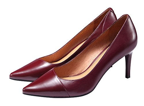 Guoar-Womens-Stiletto-Heel-Big-Size-Solid-Shoes-Pointed-Toe-PU-Pump-for-Wedding-Party-Dress-Wine-US9-0-3