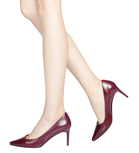 Guoar-Womens-Stiletto-Heel-Big-Size-Solid-Shoes-Pointed-Toe-PU-Pump-for-Wedding-Party-Dress-Wine-US9-0-4