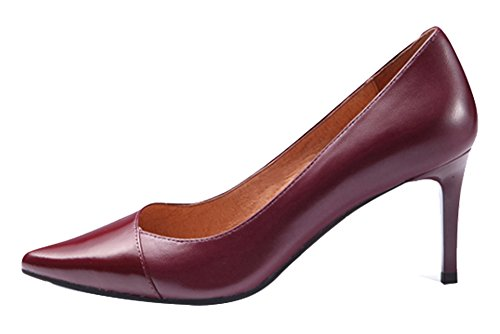 Guoar-Womens-Stiletto-Heel-Big-Size-Solid-Shoes-Pointed-Toe-PU-Pump-for-Wedding-Party-Dress-Wine-US9-0