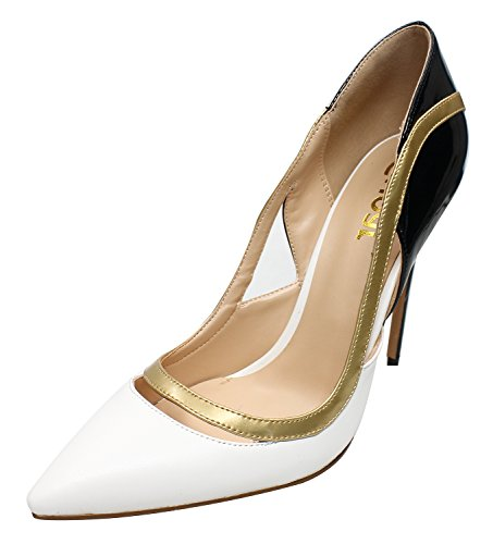 Guoar-Womens-Stiletto-Heel-Sandals-Big-Size-Shoes-Pointed-Toe-Cut-Out-Pumps-for-Wedding-Party-Dress-White-US95-0