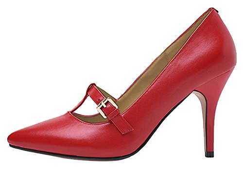 Guoar-Womens-Stiletto-Heel-Sandals-Big-Size-Solid-Shoes-Pointed-Toe-T-Strap-Pumps-for-Wedding-Party-Dress-Red-US7-0