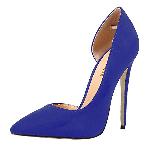 Guoar-Womens-Stiletto-Heels-Sandals-Big-Size-Shoes-Pointed-Toe-DOrsayTwo-Piece-Pumps-for-Wedding-Party-Dress-Blue-US8-0-0
