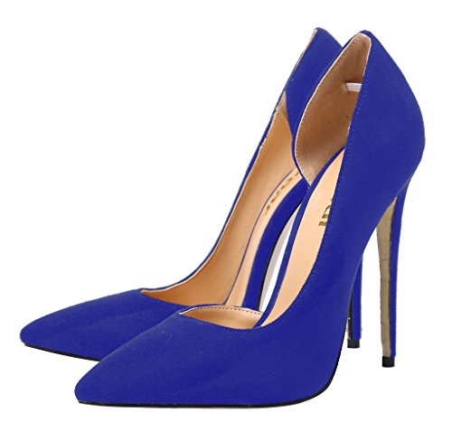Guoar-Womens-Stiletto-Heels-Sandals-Big-Size-Shoes-Pointed-Toe-DOrsayTwo-Piece-Pumps-for-Wedding-Party-Dress-Blue-US8-0-1